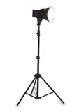 Studio strobe on white background Stock Image