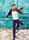 Studio strzał mężczyzna jako retro tancerz Obraz Stock
