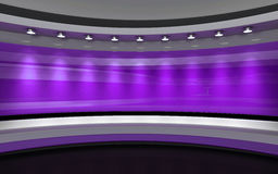 studio Studio violet Studio lilas Studio de TV Salle de presse 3d au sujet de Photo stock