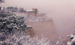 Studio sull'orlo del sud, mattina nevosa dell'allerta di gennaio Immagini Stock