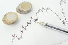 Studio sulle opportunità finanziarie Fotografie Stock
