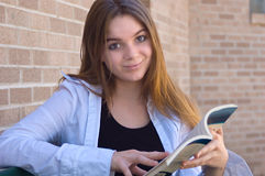 Studio teenager della ragazza della High School Immagini Stock Libere da Diritti