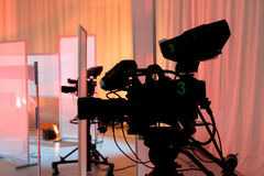 Studio Television Camera Stock Images