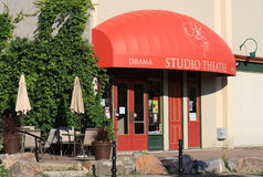 Studio Theatre in Perth. PERTH, CANADA - JULY 19: The Studio Theatre on July 19, 2012 in Perth, Ontario. The Studio Theatre brings community theatre to Perth and royalty free stock photography