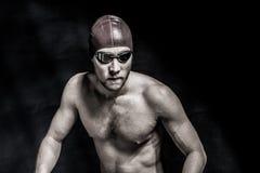 Studio tiré d'un nageur beau Photographie stock libre de droits