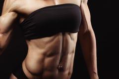 Studio tiré de la jeune femme musculaire Photographie stock libre de droits