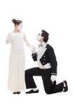 Studio tiré des amoureux de pantomimes Image libre de droits