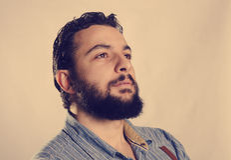 Studio tiré du profil de hippie Photos libres de droits