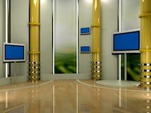 Studio TV Fotografia Stock Libera da Diritti