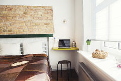 Studio-type guest house. The interior of a cozy studio-type guest house Stock Photos