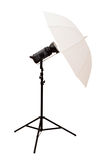 Studio umbrella isolated Royalty Free Stock Photography