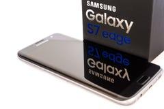 Studio van een zwarte Samsung-Melkwegs7 RAND die wordt geschoten Royalty-vrije Stock Fotografie