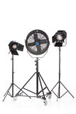 Studio Ventilator And Lightings stock image