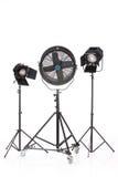 Studio Ventilator And Lightings Stock Image