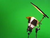 Studio vert d'effets spéciaux d'écran Photos stock