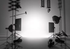 Studio vide de photographie photo libre de droits