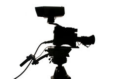 Studio Video Camera Silhouette Royalty Free Stock Images