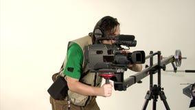 Studio video shooting stock footage