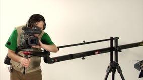 Studio video shooting stock video