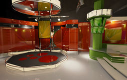 studio virtuale 3D Fotografie Stock Libere da Diritti