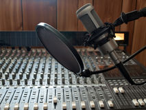 Studio vocal microphone Stock Photography
