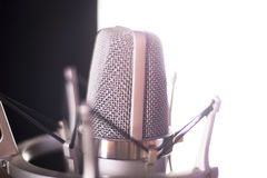 Studio voiceover microphone Royalty Free Stock Images
