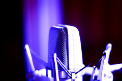 Studio voiceover microphone Royalty Free Stock Photos