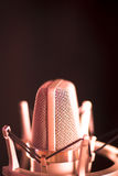 Studio voiceover microphone Royalty Free Stock Image