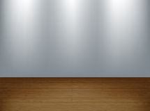 Studio wall. Spotlight on wall, studio interior background, eps10 vector illustration with copy space Stock Photo
