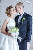 Studio wedding photography Stock Images