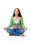 Studio yoga woman Royalty Free Stock Image