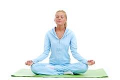 Studio yoga woman Stock Photo