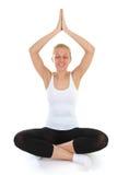Studio yoga woman Royalty Free Stock Photo
