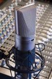 studio zawodowego mikrofonu Fotografia Royalty Free