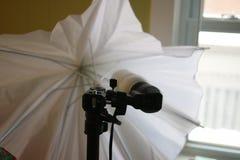 Studiobelysning som isoleras på vitbakgrunden royaltyfri foto