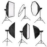 Studiobelysning som isoleras på vit Royaltyfri Fotografi