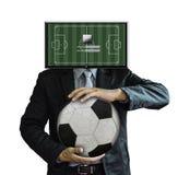 Studiobild av inloggningen för fotbolllagledare Royaltyfria Bilder