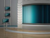 Studiofernsehapparat Stockfoto