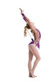 Studiofoto av den konstnärliga gymnastdansen med muskotblomma royaltyfria foton