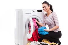 Studiofoto von Frauenwäscherkleidung lizenzfreies stockfoto