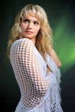 studiokvinna för stående s Fotografering för Bildbyråer