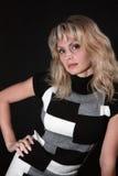 studiokvinna för stående s Royaltyfri Fotografi
