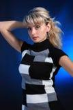studiokvinna för stående s Royaltyfri Foto