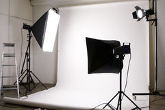 Studiolightingutrustning Royaltyfria Foton