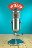 Studiomikrofonstand Auf der Luft Stockfotografie
