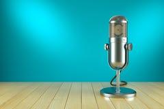 Studiomikrofonstand Auf der Luft Stockbild