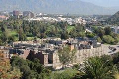 Studion turnerar område på universella studior Hollywood arkivbilder