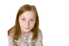 Studioporträt des elfjährigen attraktiven Mädchens Lizenzfreie Stockfotografie