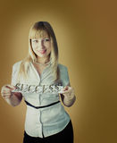 Studioportrait der Geschäftsfrau Stockfoto