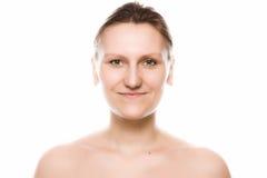 Studioportrait der jungen erwachsenen Frauen Lizenzfreies Stockfoto